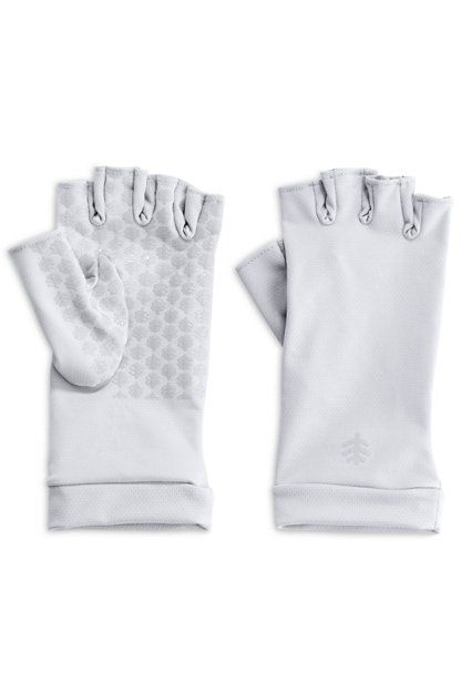 Coolibar---UV-resistant-fingerless-gloves-for-adults---Ouray---White