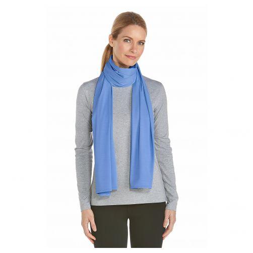 Coolibar---UV-sun-scarf---Sport-blue