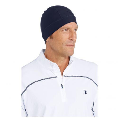 Coolibar---UV-swim-cap-unisex--Navy-blue