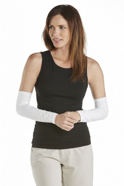 Coolibar---UV-Women-Sun-Sleeves---White