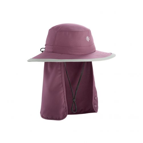 Coolibar---Children's-UV-hat-with-concealable-neck-flap---dark-purple