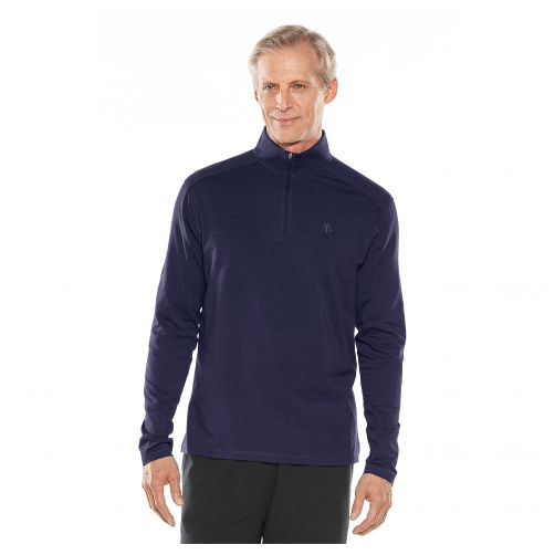 Coolibar---UV-Pullover-with-Quarter-Zip-for-men---Sonora---Navy
