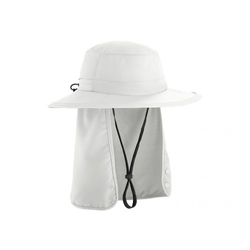 Coolibar---Children's-UV-hat-with-concealable-neck-flap---White