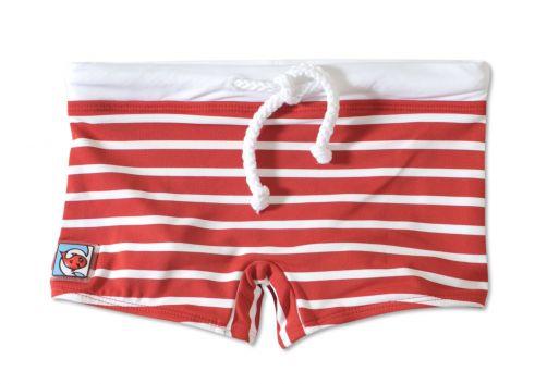Little-Red-Fish---UV-Swim-Shorts-Kids--Red/White-Stripes