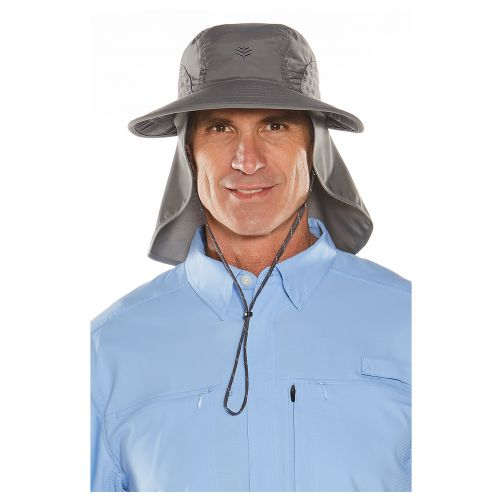 Coolibar---UV-cap-with-neck-and-ear-protection-for-men-and-women---grey