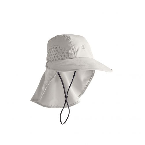 Coolibar---UV-cap-with-neck-protection-for-children---light-grey