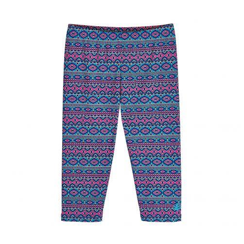 Coolibar---UV-capri-swim-leggings-for-kids---blue/pink