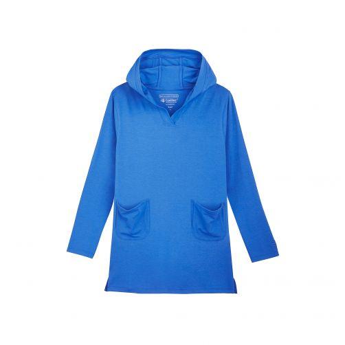 Coolibar---UV-hoodie-dress-for-girls---blue