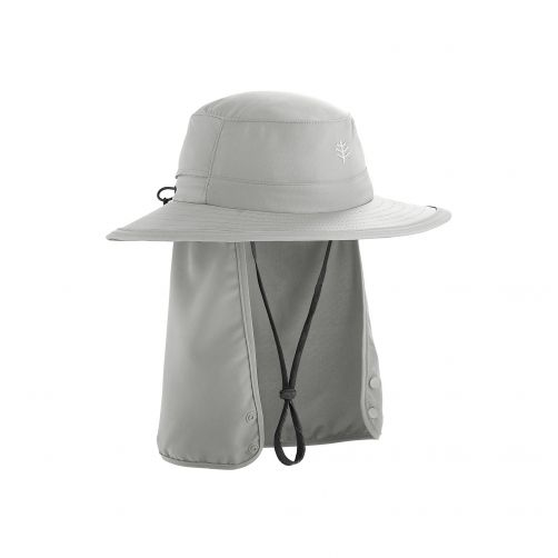 Coolibar---Children's-UV-hat-with-concealable-neck-flap---light-grey