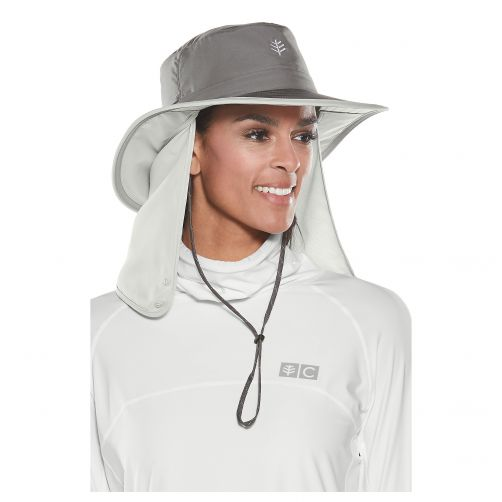 Coolibar---Convertible-UV-Boating-hat-with-neck-flap-for-adults---Woodland-Grey
