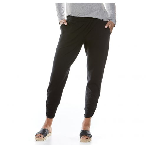 Coolibar---Casual-UV-pants-for-women---Café-Ruche---Black