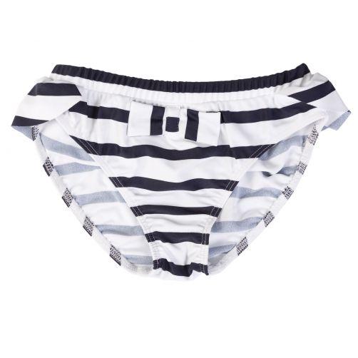 Petit-Crabe---UV-Bikini-bottom---Striped---White/Navy