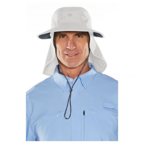 Coolibar---UV-cap-with-neck-and-ear-protection-for-men-and-women---light-grey