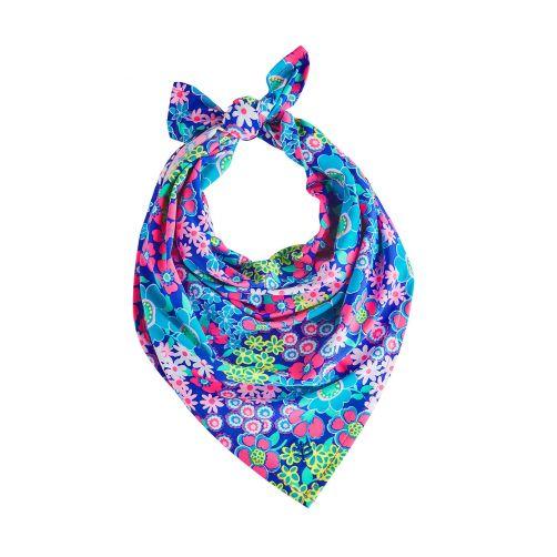 Coolibar---UV-protective-bandana-for-kids---Pink-/-Blue-floral