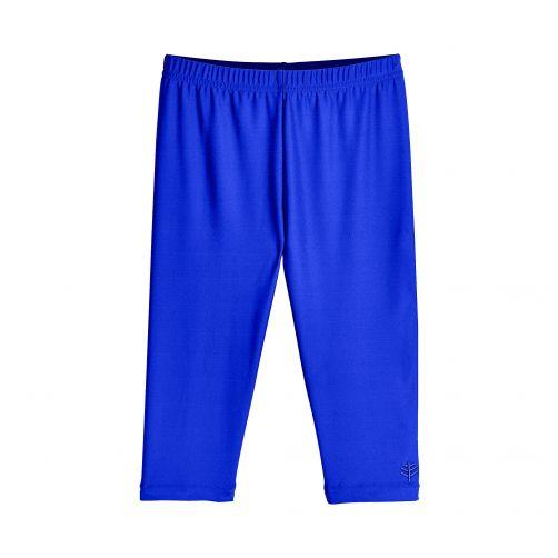 Coolibar---UV-capri-swim-leggings-for-kids---blue