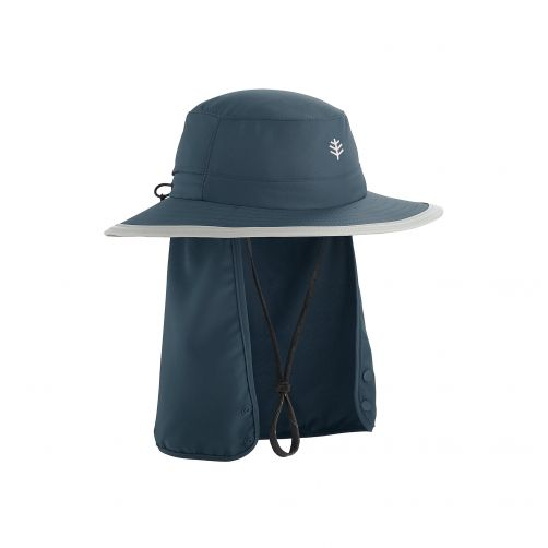 Coolibar---Children's-UV-hat-with-concealable-neck-flap---dark-blue