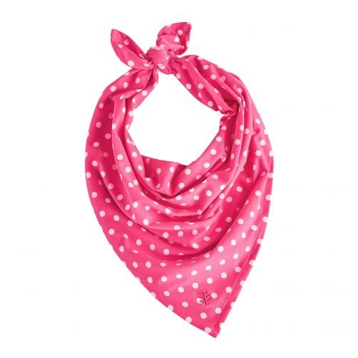 Coolibar---UV-protective-bandana-for-kids---Pink-/-White-polka-dots
