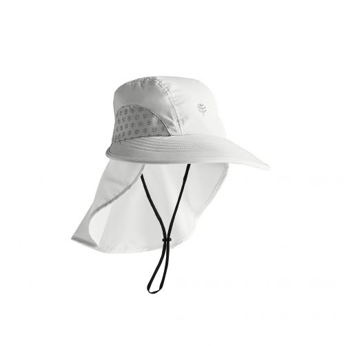Coolibar---UV-Cap-with-neck-protection-for-kids---Explorer---White