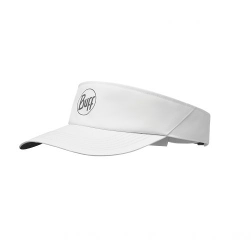 Buff---Sun-visor-for-adults---Reflective-Logo---White