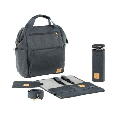 Lässig---Diaperbag-Glam-Goldie-Backpack---Anthracite