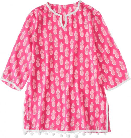 Snapper-Rock---Tunic-and-cover-up-girls---Hot-Pink-Pineapples