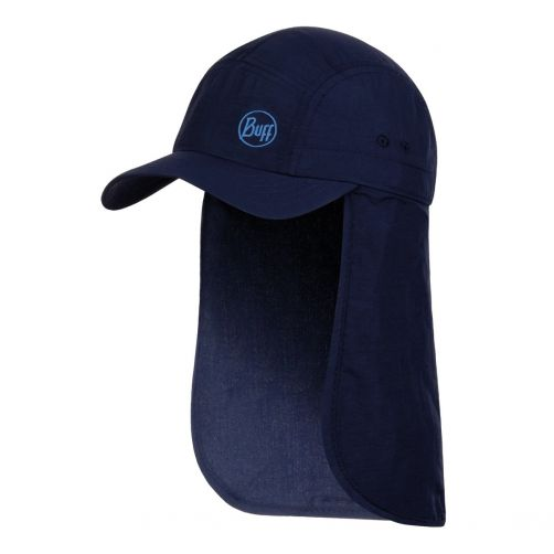 Buff---Kids'-Bimini-UV-cap-with-neck-flap---Navy