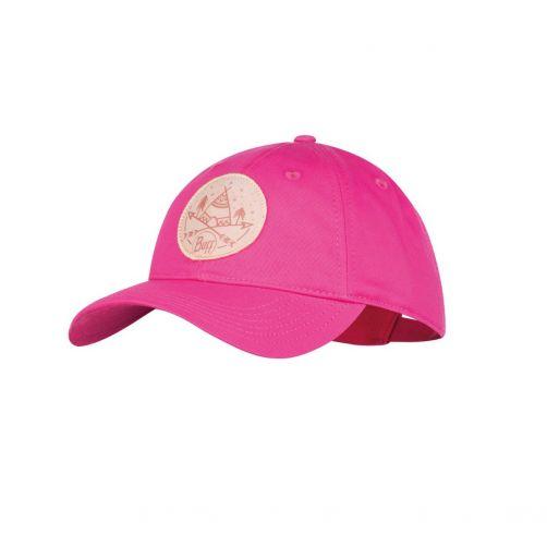 Buff---Baseball-cap-for-girls---Cotton---Fuchsia