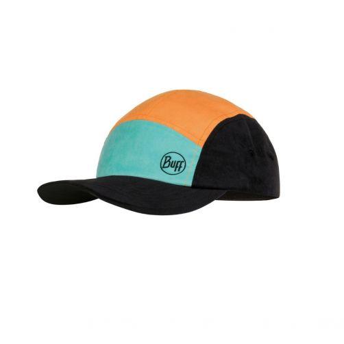 Buff---UV-sun-cap-for-kids---5-Panels---Colourblock---Multi