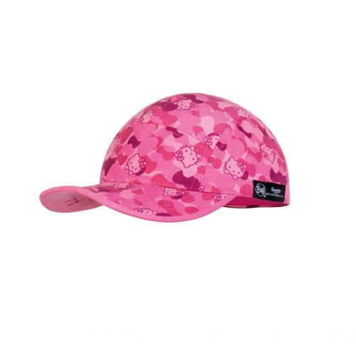 Buff---UV-sun-cap-for-girls---5-Panels---Hello-Kitty---Pink