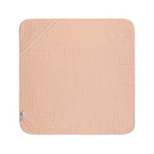 Lässig---Hooded-towel---Muslin---Pink