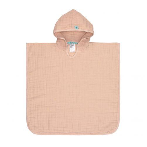 Lässig---Babytowel-with-hoodie---Muslin---Pink