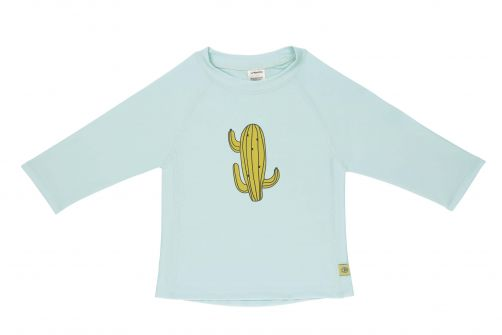 Lässig---Kids'-UV-swim-shirt---long-sleeve---Cactus---light-blue