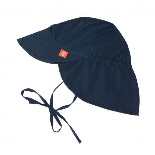 Lässig---UV-Flap-hat-for-children---Dark-blue