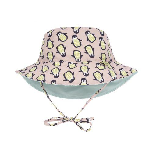 Lässig---Babies'-UV-hat-reversible---Penguin---peach-/-mint