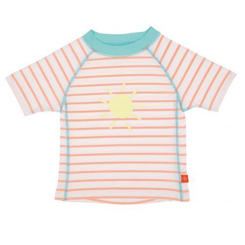 Lässig---UV-swim-shirt-for-kids-Striped---White-/-Peach-/-Blue