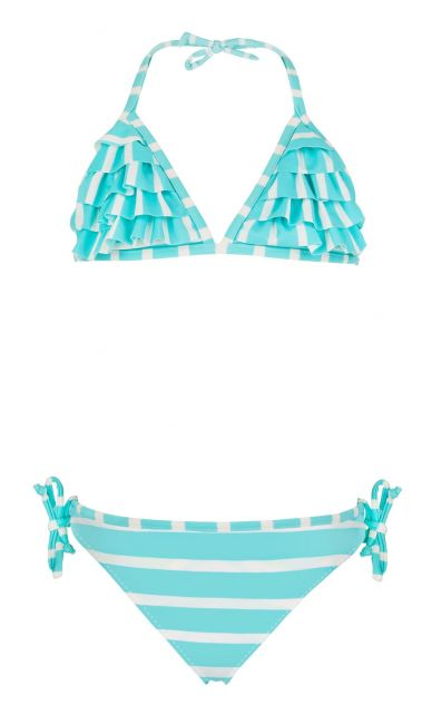 Snapper-Rock---Waterfall-bikini---Aqua/White-stripe