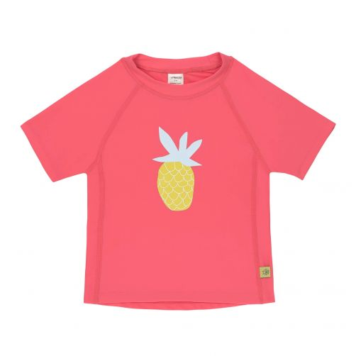 Lässig---Girls'-UV-swim-shirt---short-sleeve---Pineapple---hot-pink