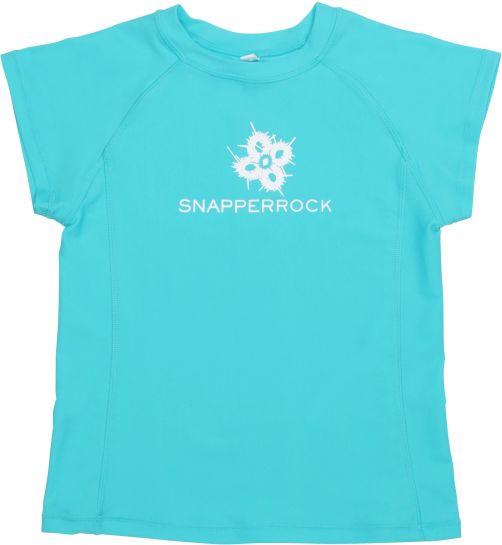 Snapper-Rock---UV-Shirt-Kids-Short-Sleeve--Aqua-Cap-Sleeve