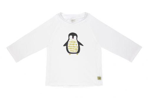 Lässig---Kids'-UV-swim-shirt---long-sleeve---Penguin---white
