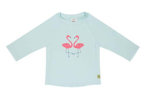 Lässig---Girls'-UV-swim-shirt---long-sleeve---Flamingo---mint