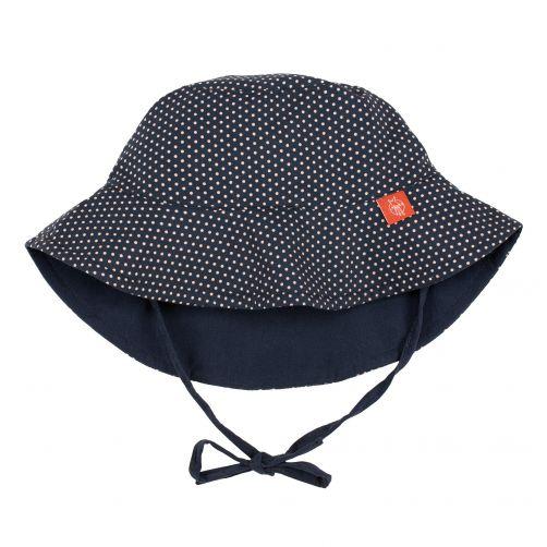 Lässig---UV-sun-hat-for-children-Polkadots---Dark-blue