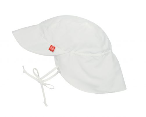 Lässig---UV-Flap-hat-for-children---White