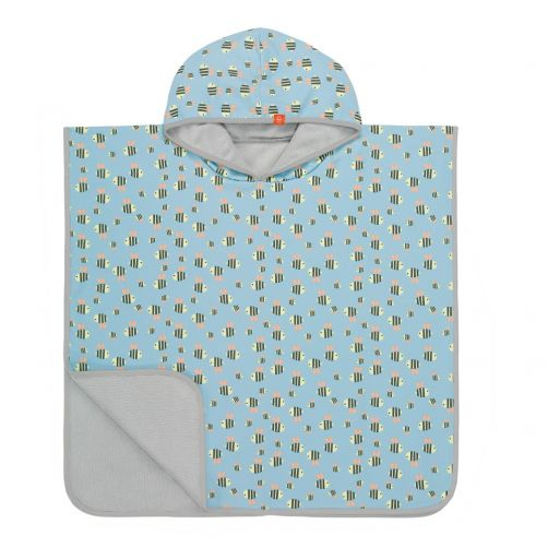 Lässig---Baby-towel-for-children---Bumble-Bee---Light-blue