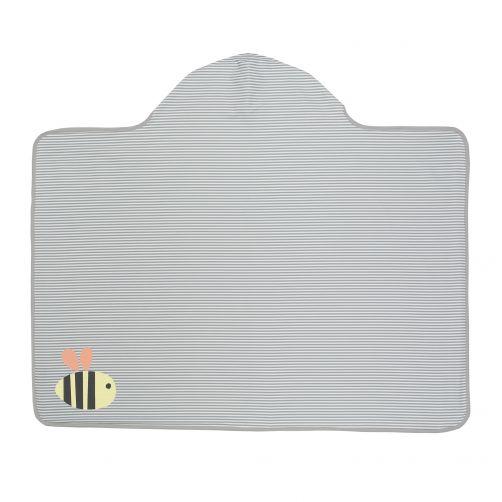 Lässig---Hooded-towel---Bumble-Bee---Striped