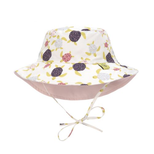 Lässig---Girls'-UV-hat-reversible---Turtles---white-/-pink