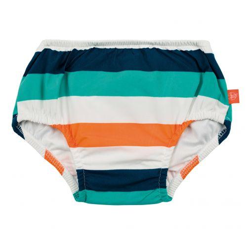 Lässig---Swim-diaper-baby---Striped---White-/-Blue-/-Peach