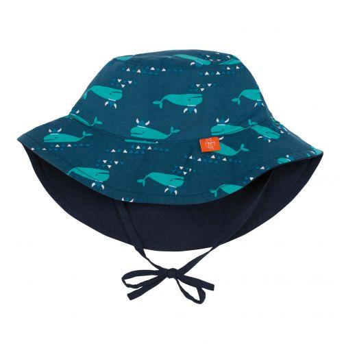 Lässig---Sun-hat-for-children---Blue-Whale---Blue