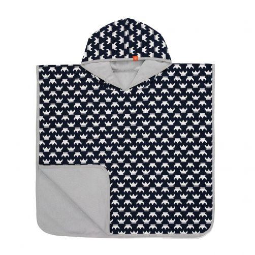Lässig---Baby-towel-with-hood-for-children---Viking---dark-blue