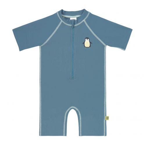 Lässig---Kids'-UV-swimsuit---short-sleeve---Penguin---blue