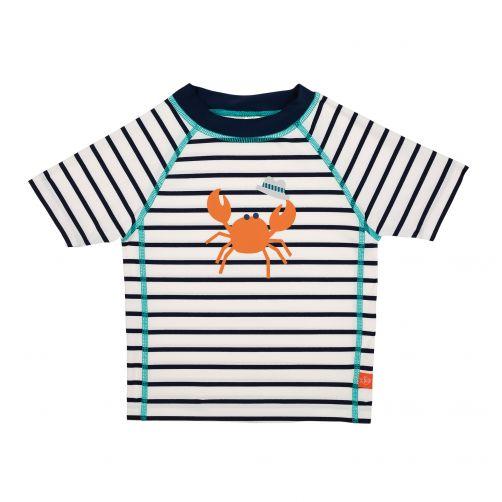 Lässig---UV-swim-shirt-for-children---Striped---White-/-Dark-Blue